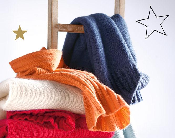 Stapel Kaschmir-Pullover