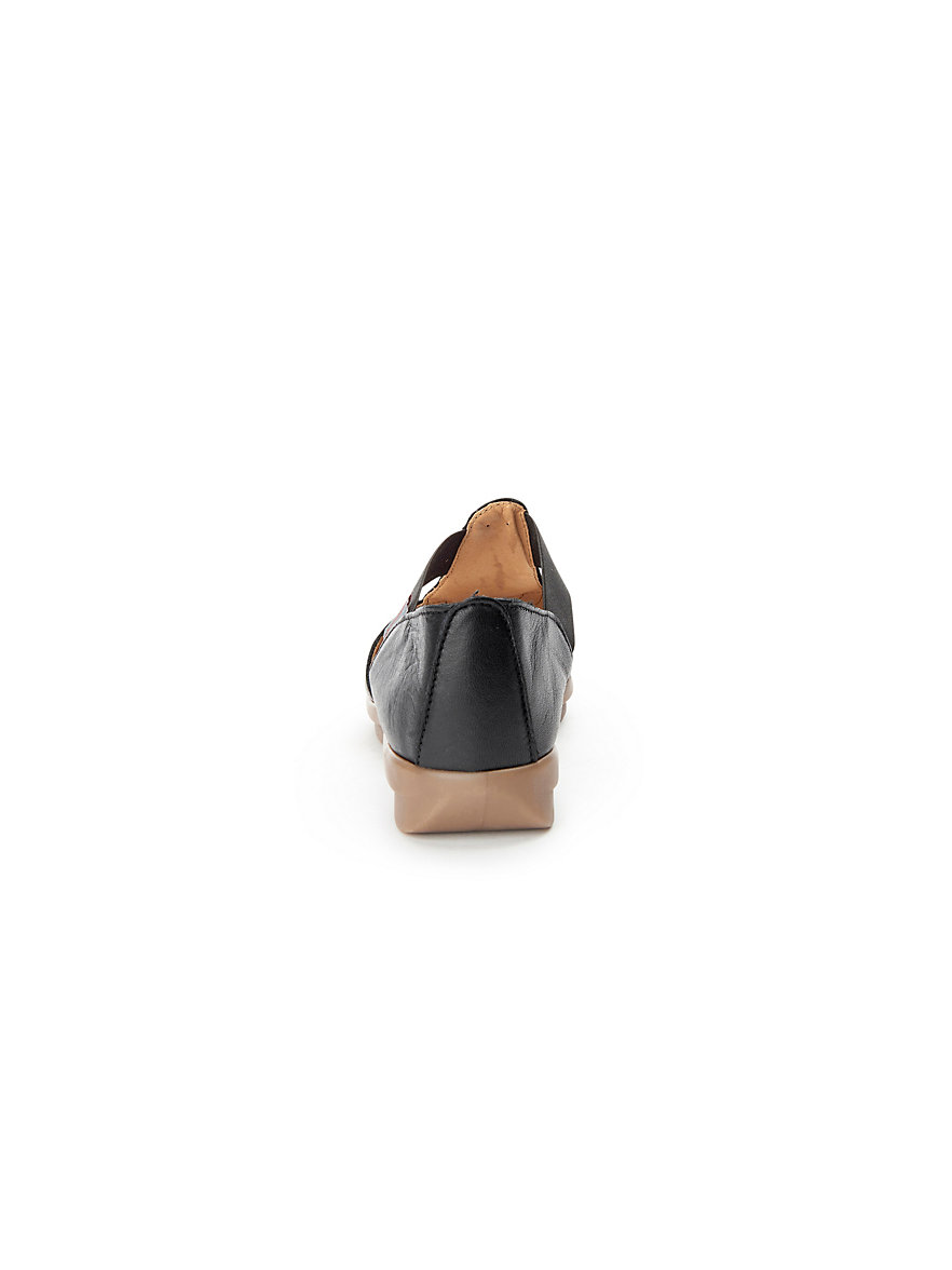 Sandale aus 100% Leder Aerobics schwarz VST0wU