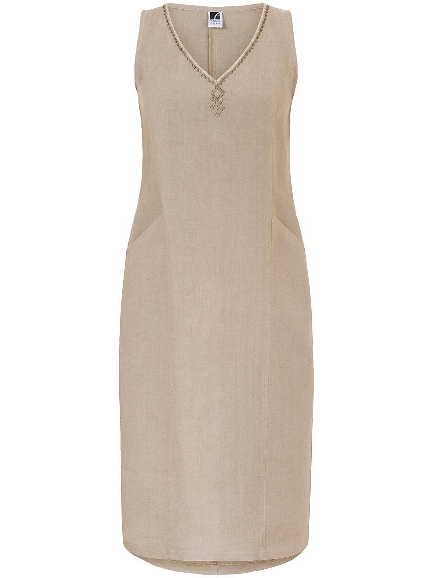 Dress in 100% linen Anna Aura beige Anna Aura I12jd