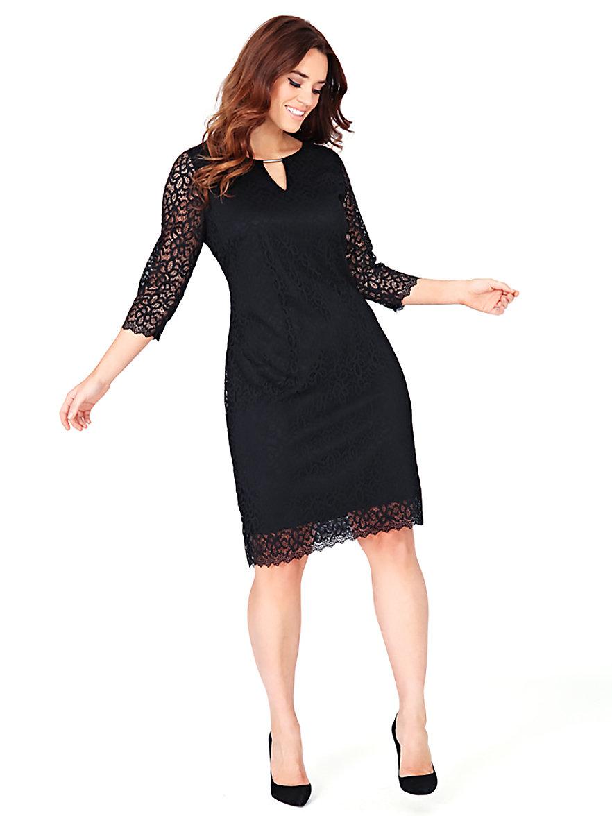 Anna Scholz for sheego-Elegantes Cocktail-Kleid-Schwarz