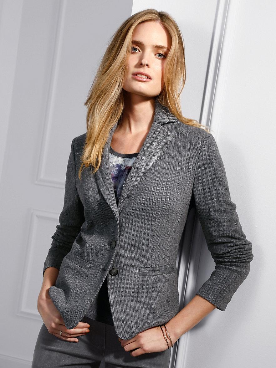 Jersey blazer damen grau