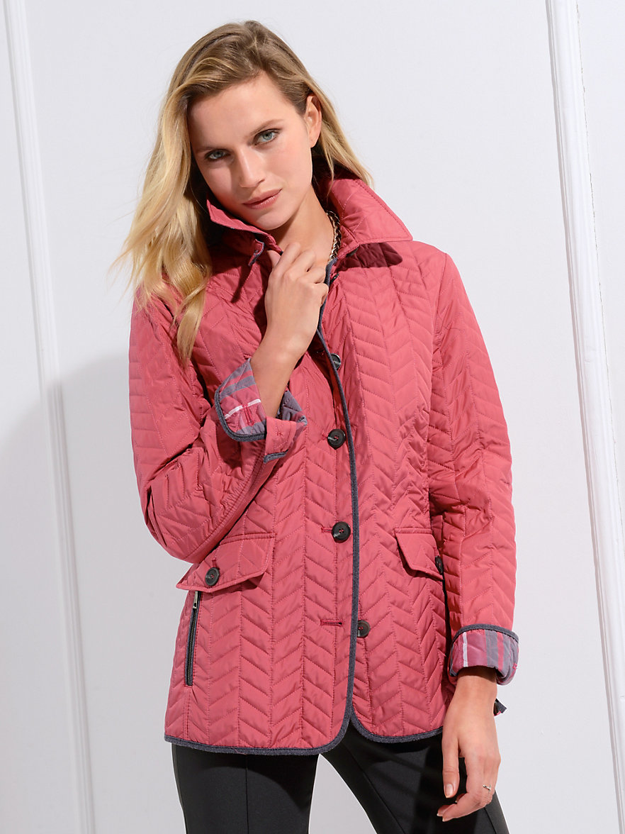 Basler-Quilted jacket-dark pale pink
