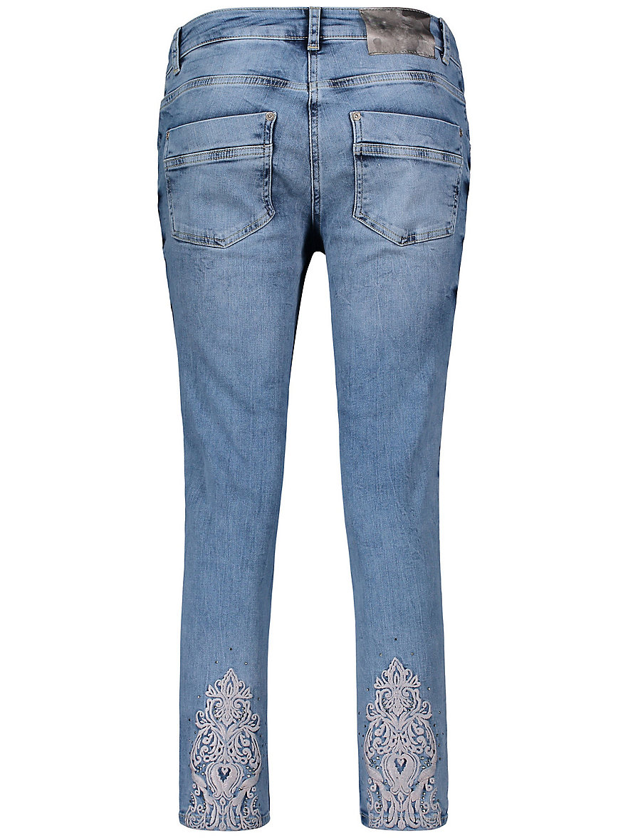 8, broderies et strass fantaisie denim