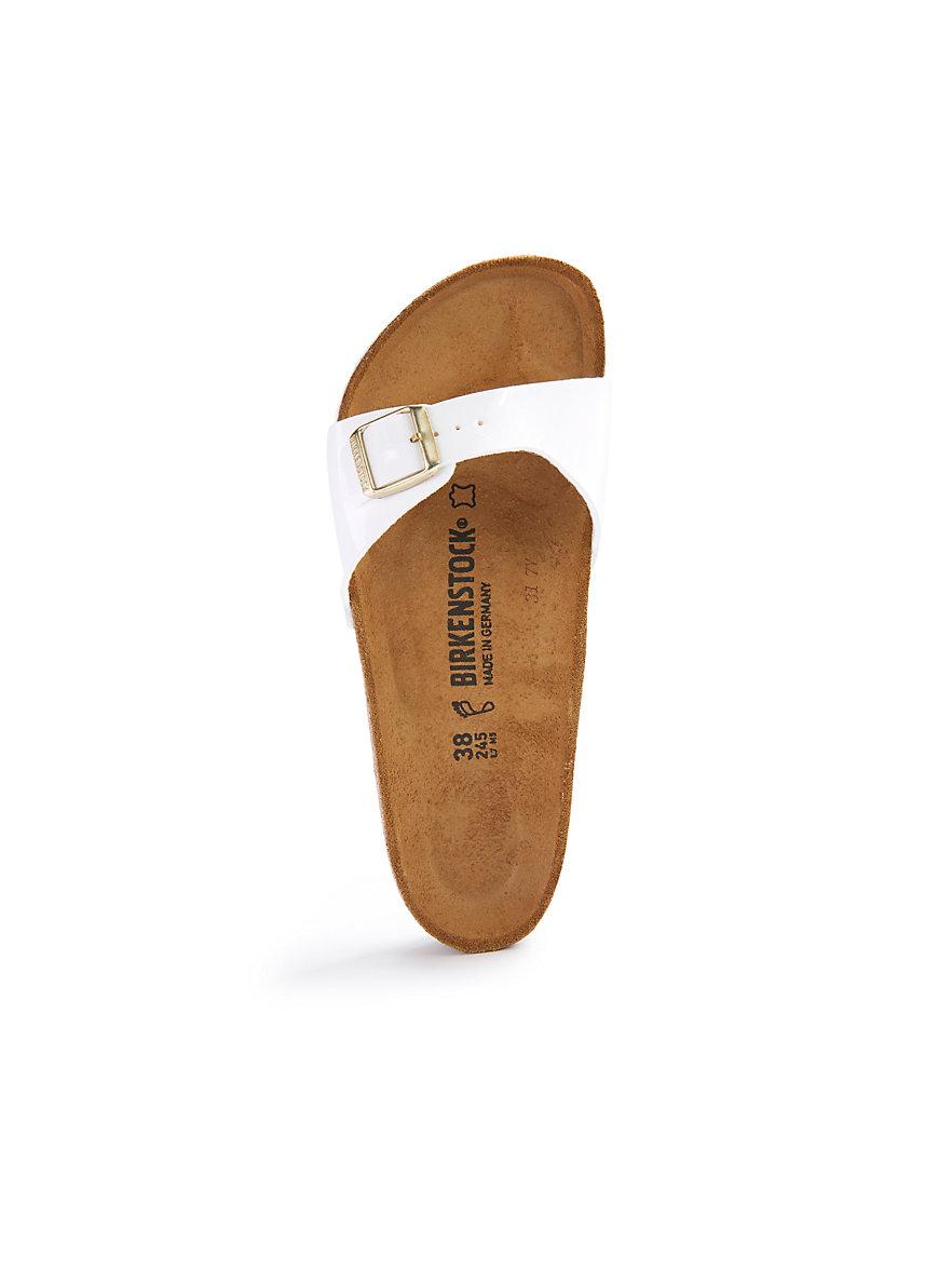 Pantoffeln Birkenstock Madrid Lammfell Taupe Damen