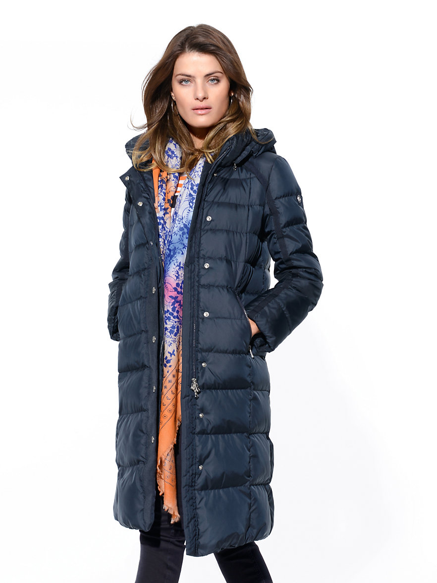 Bogner-Quilted down coat-navy