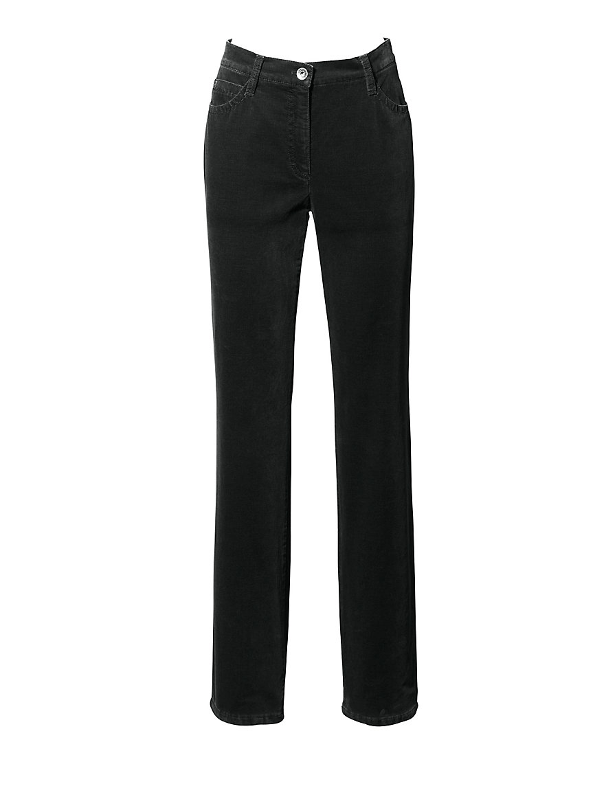 Feminine Fit velveteen trousers - Design CAROLA Brax Feel Good black Brax Where Can You Find Cheap Price Pre Order Buy Cheap Best Explore For Sale Clearance Real MdaRfRtSyT