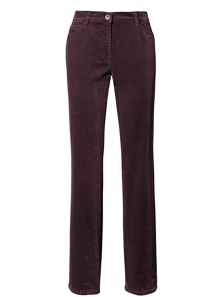 Feminine Fit velveteen trousers - Design CAROLA Brax Feel Good black Brax cofTah