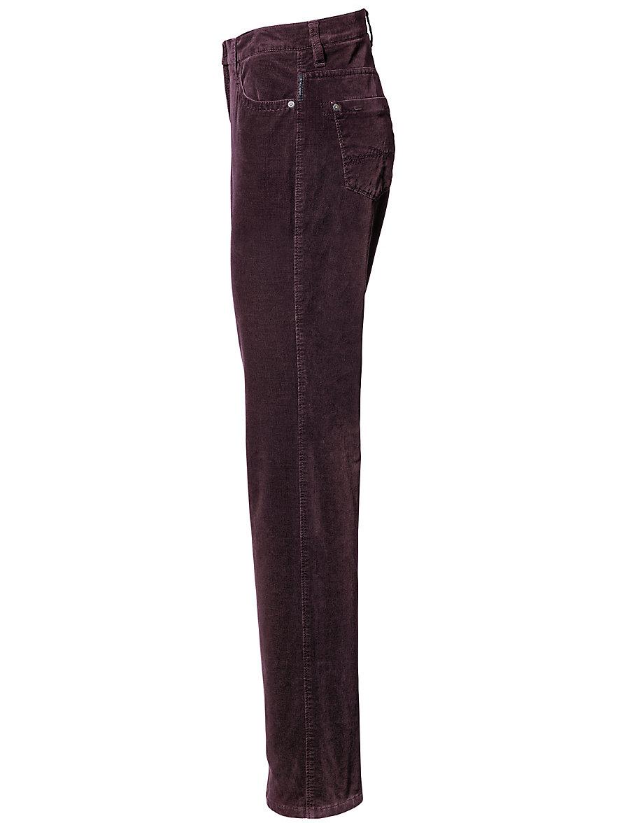 Pantalon De Velours Coupe Féminine - Conception Carola Brax Se Sentent Bien Violet Brax 76sPgBv7