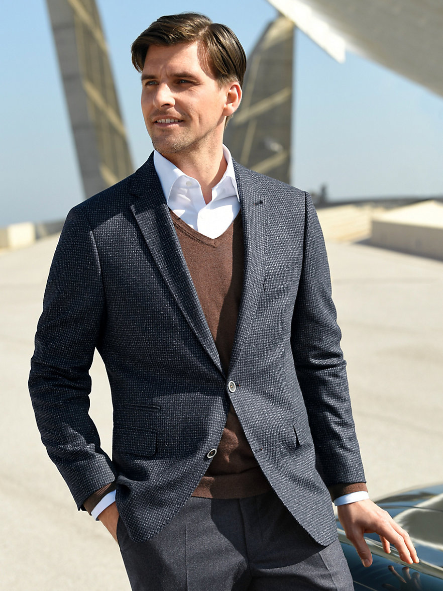 Bugatti-Versatile sports jacket-navy/grey
