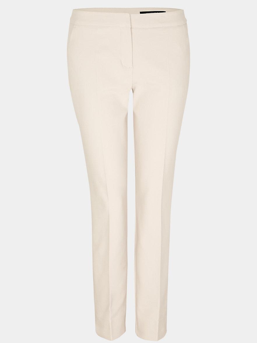Comma, Le pantalon chino en satin coton stretch