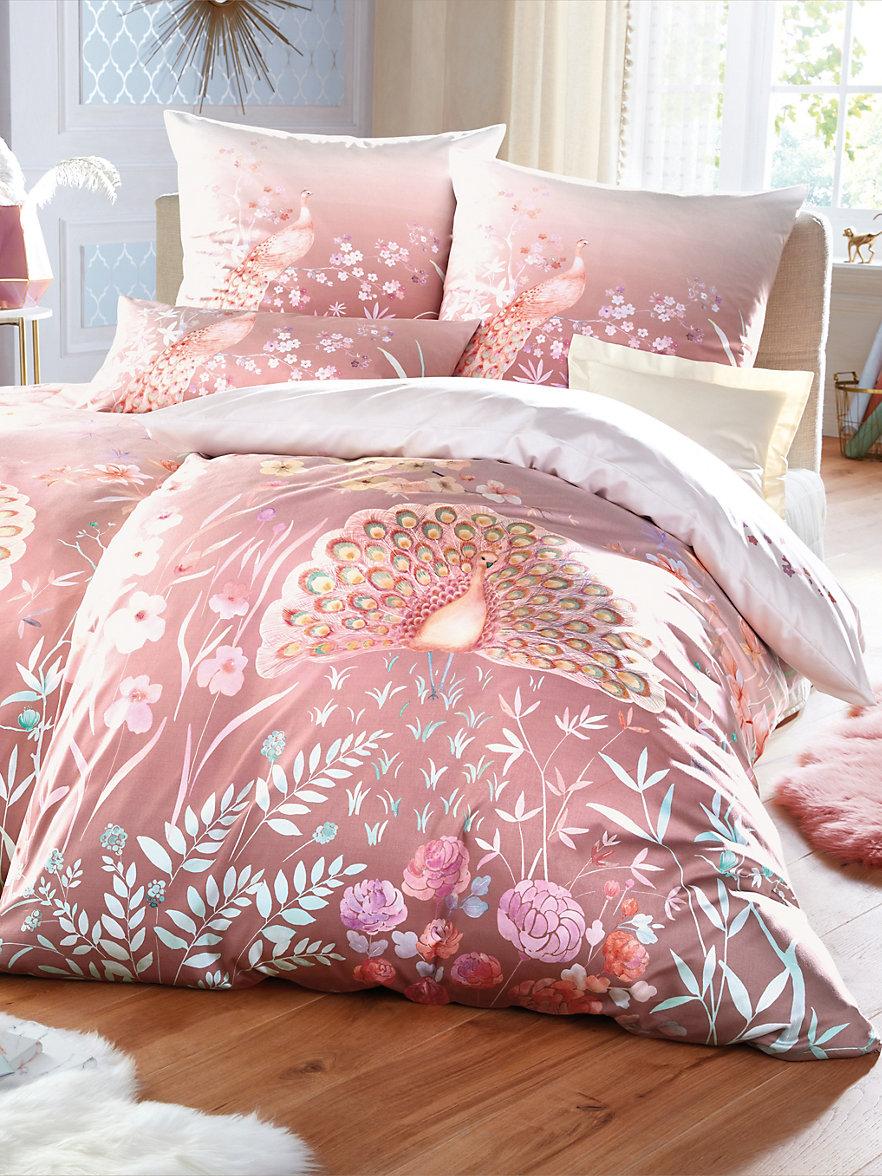 zum halben Preis günstig feinste Stoffe 2-teilige Bettwäsche-Garnitur aus Satin