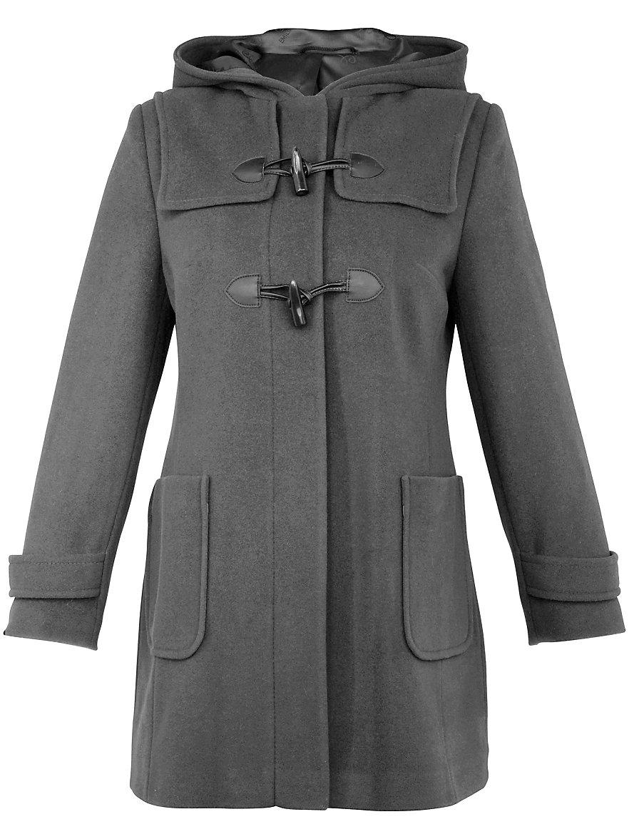 Emilia Lay-Duffle coat-grey