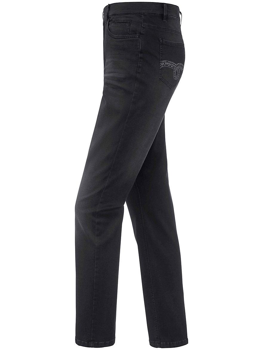 Emilia Lay Le jean stretch délavé, coupe 5 poches