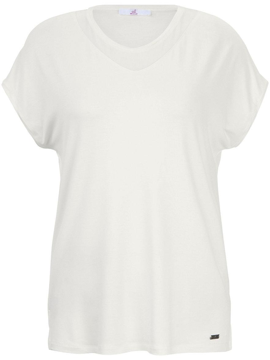 Emilia Lay Le T-shirt, ligne décontractée, décolleté V