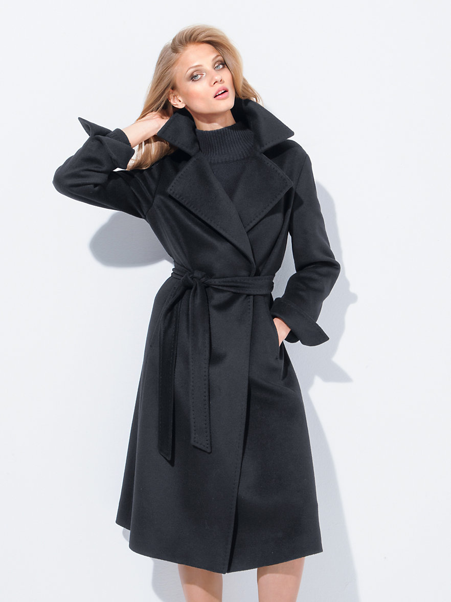 Fadenmeister Berlin-Coat in 100% cashmere-black