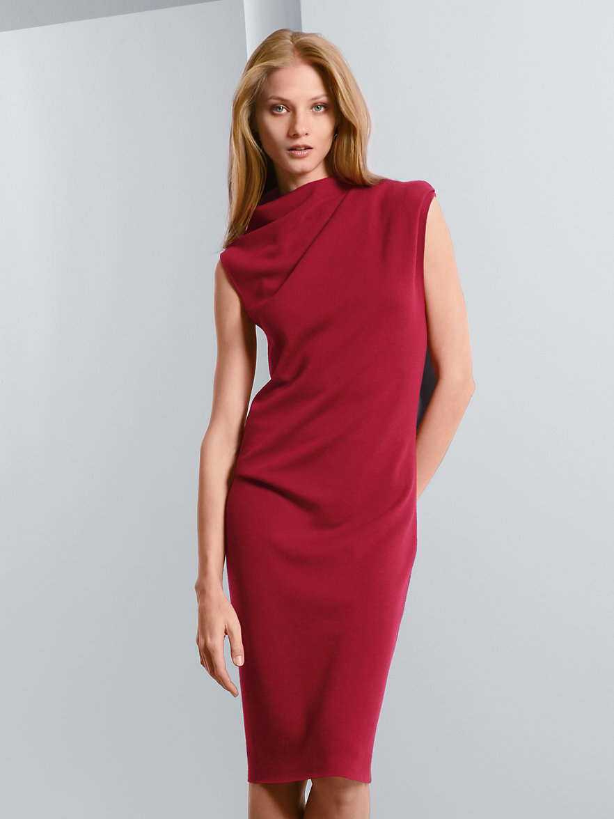Sleeveless knitted dress MAERZ Muenchen red Maerz With Credit Card Online fHDvqq