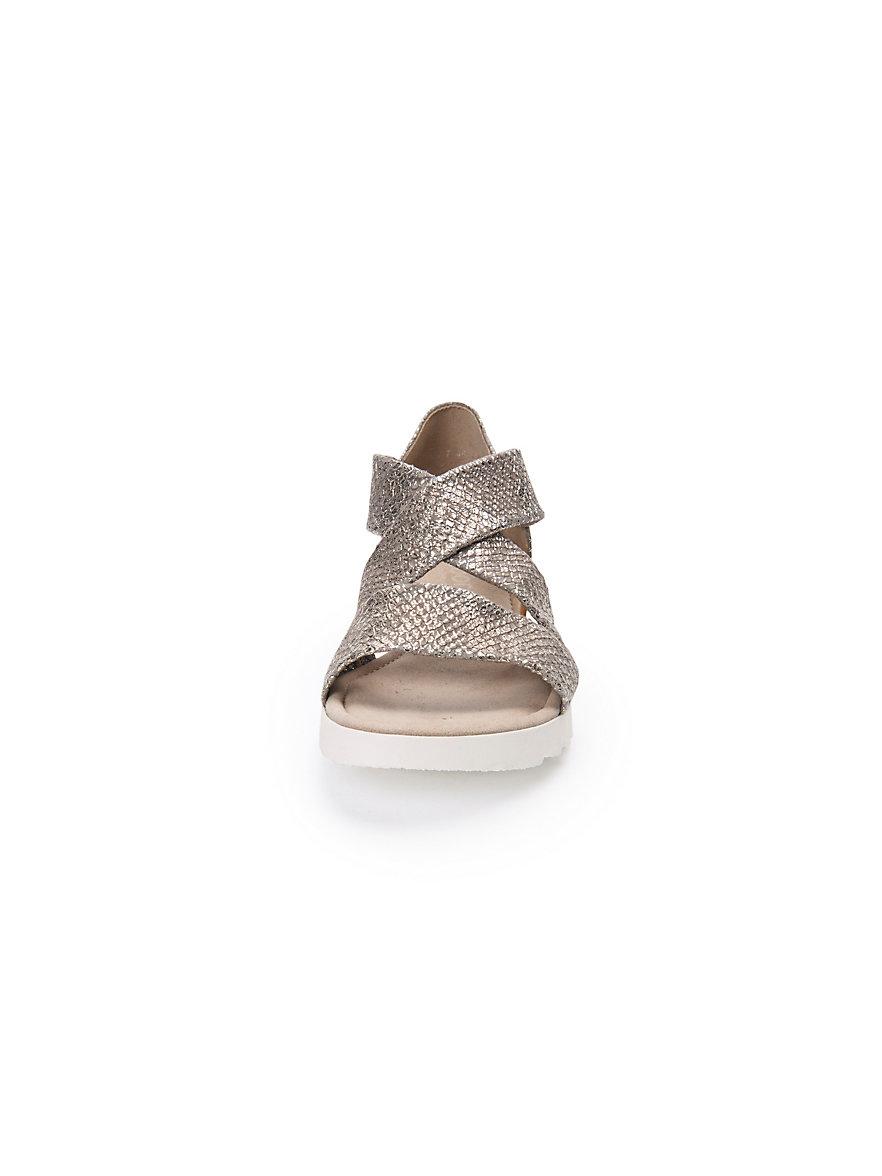 Les sandales en cuir, brides croisées Gabor beige