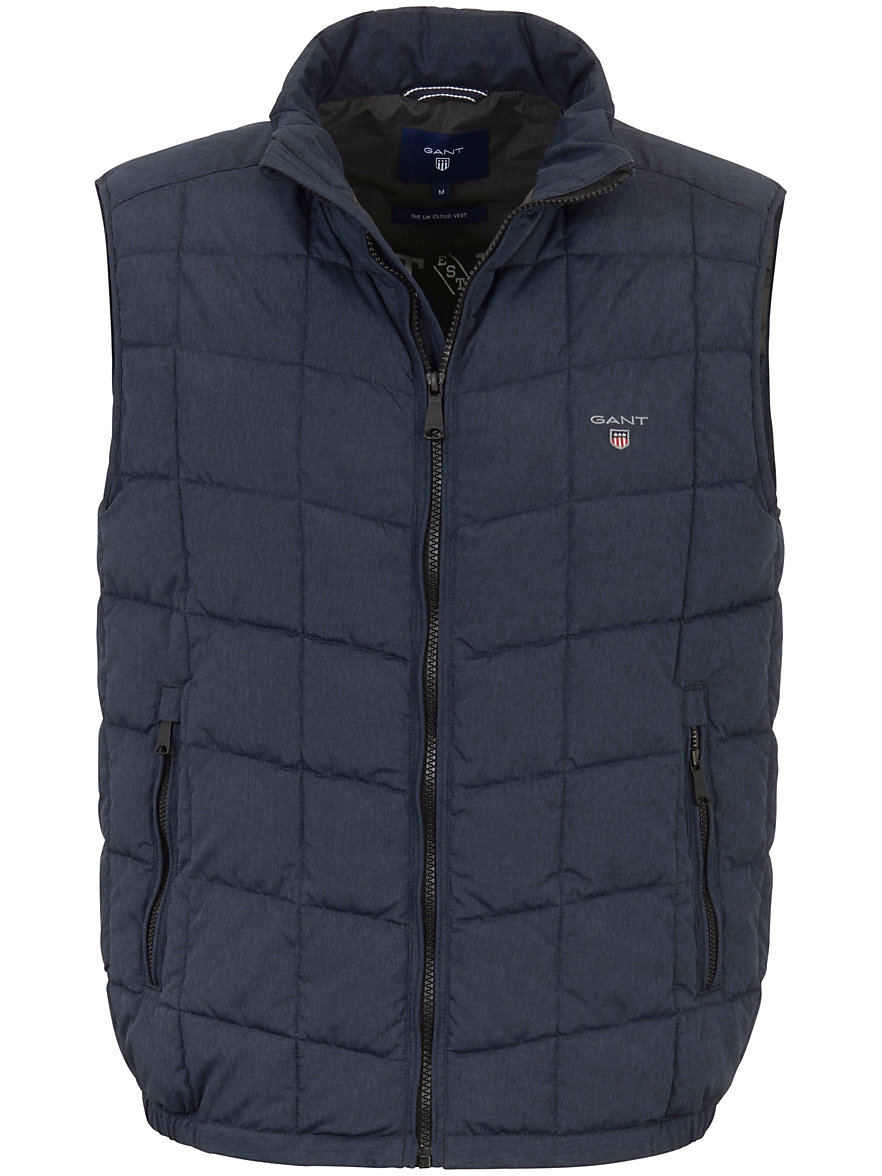 GANT-Quilted gilet for the trendy leisure look-indigo-mélange : quilted gillet - Adamdwight.com