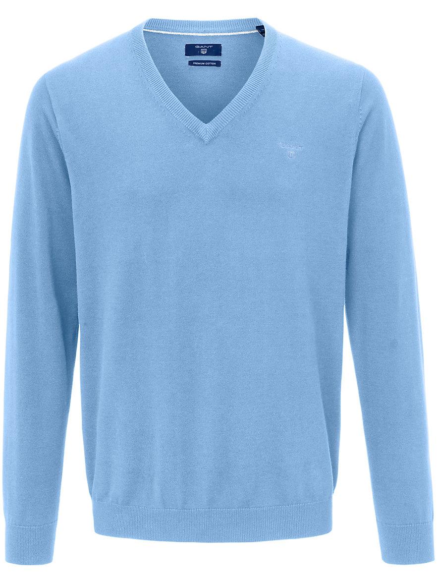 eff3618568 GANT - V-neck jumper - light blue-mélange