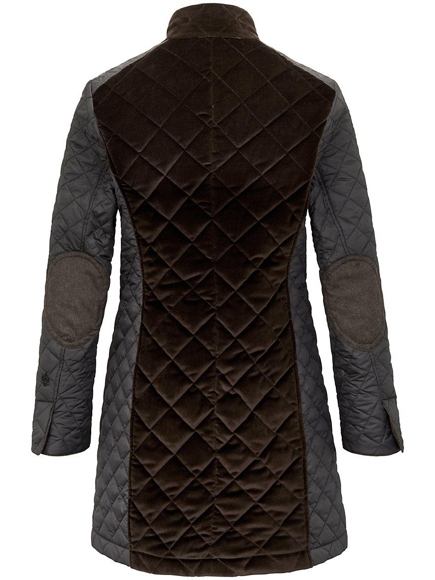 HABSBURG-Quilted jacket-brown : brown quilted coat - Adamdwight.com