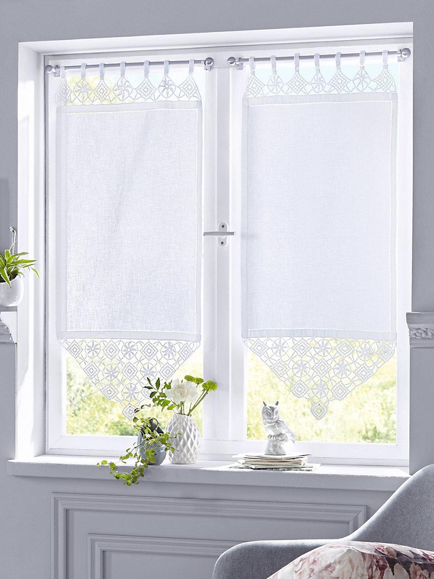 mit schlaufen daria trkis baumwolle mit schlaufen bl with. Black Bedroom Furniture Sets. Home Design Ideas