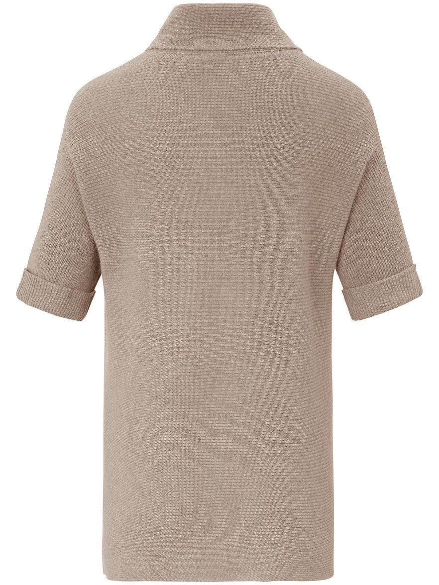 Poncho-Pullover aus 100% Kaschmir include beige include