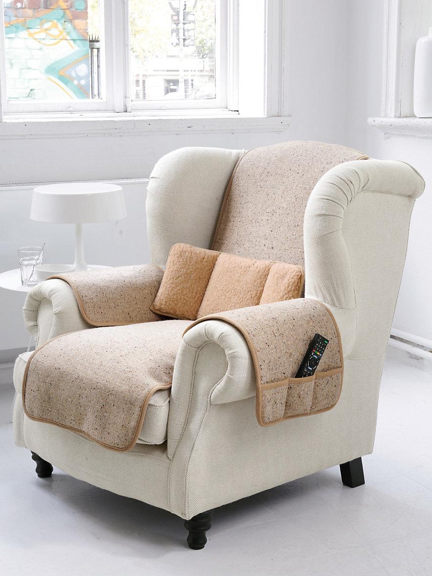 Irelamb Le prot¨ge fauteuil en pure laine vierge 50x150cm beige