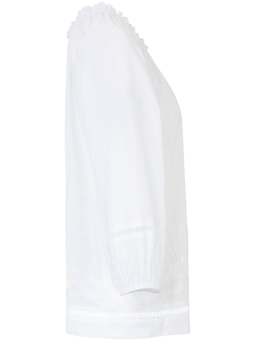 Just White La tunique en pur coton, broderies fantaisie