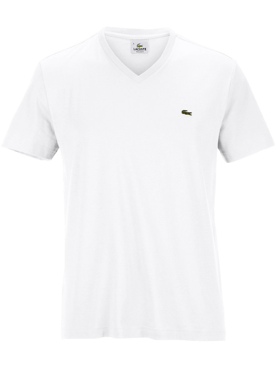 V neck top 1/2-length sleeves Lacoste white Lacoste Free Shipping Get To Buy BYHKrP