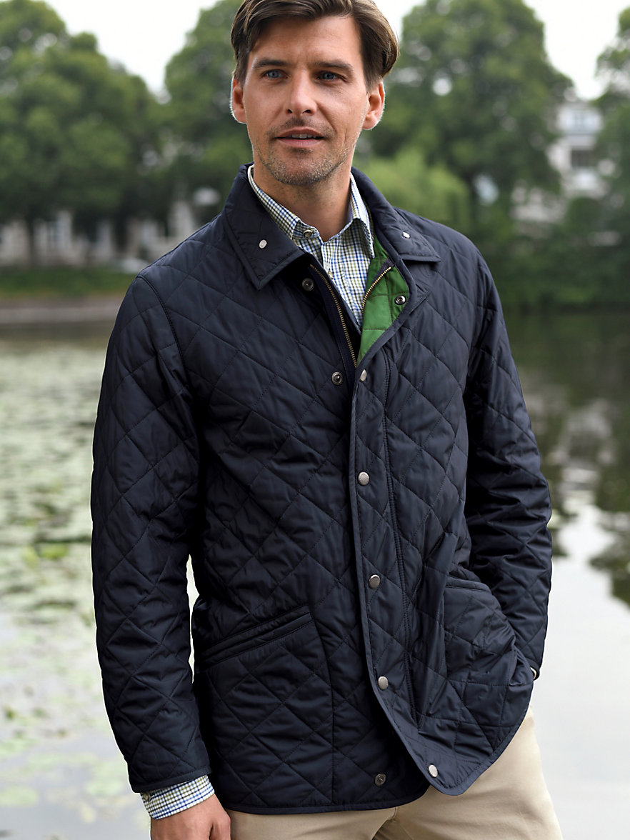 Lodenfrey-Quilted jacket-navy/green