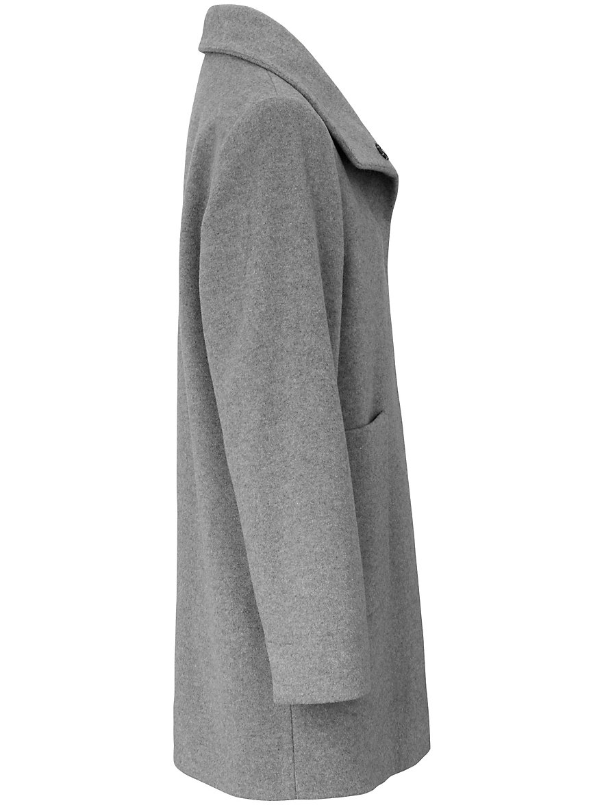 Looxent-Short coat with high raised collar-grey
