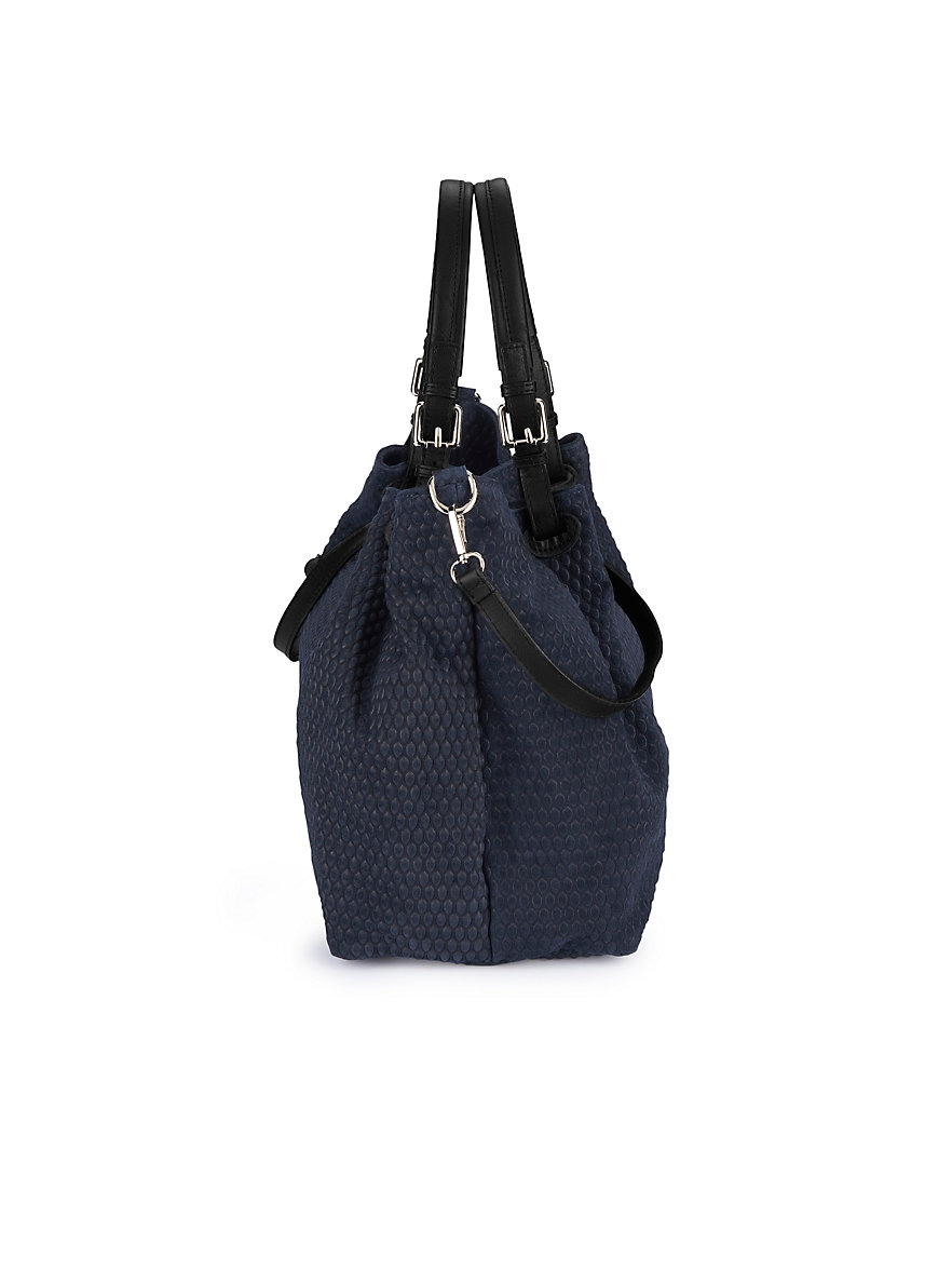 Suede tote bag Looxent blue Looxent hN9kD96e