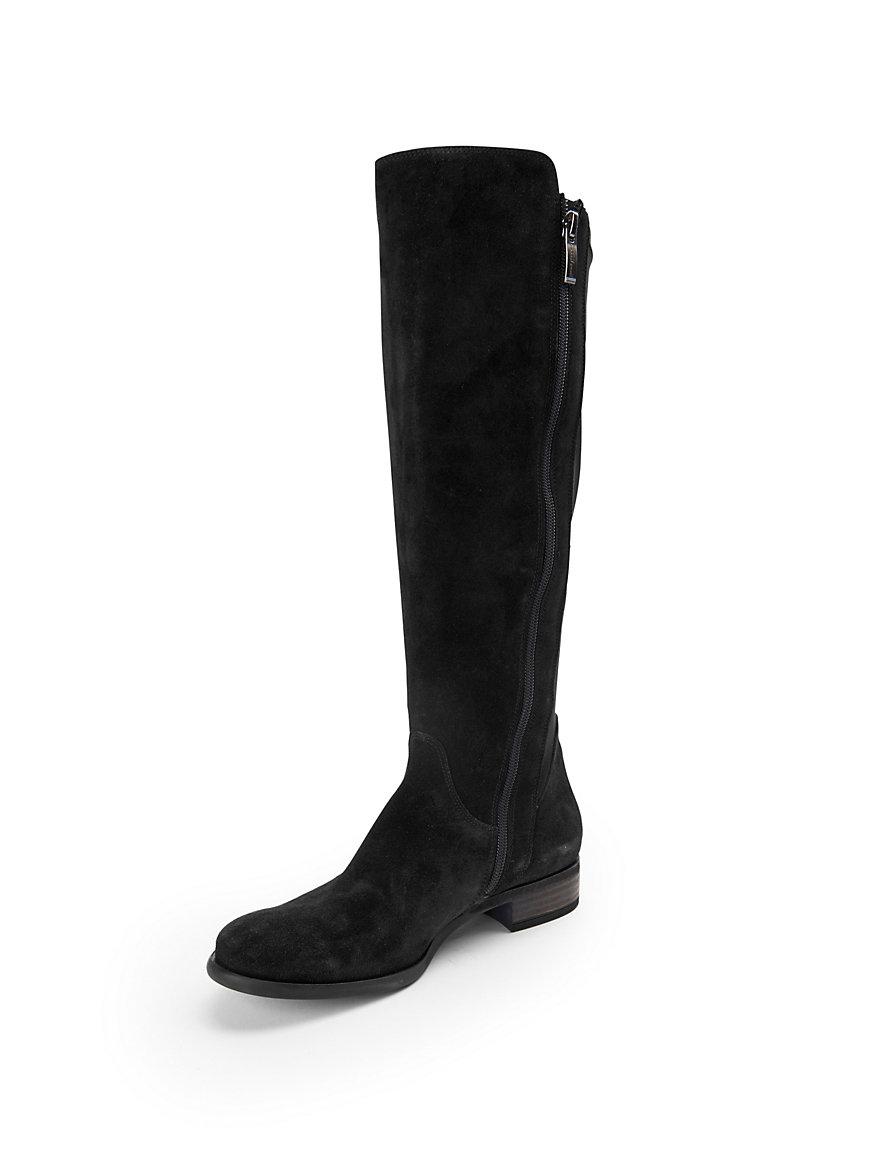 paul green-les bottes à longues tiges en cuir velours-noir