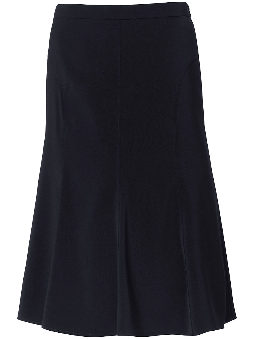 Peter Hahn-A-line skirt with flared hem-navy