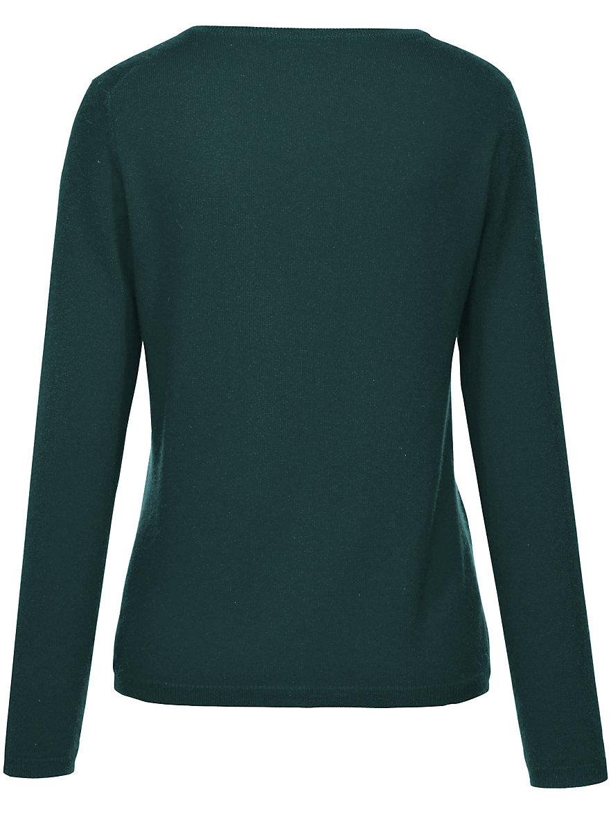 Peter Hahn Cashmere-Cardigan in 100% cashmere-dark green