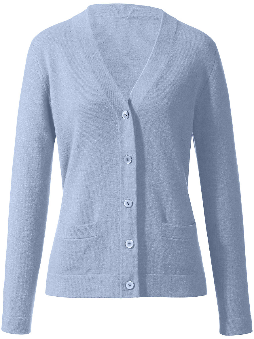 Peter Hahn Cashmere-Cardigan in 100% cashmere-light blue