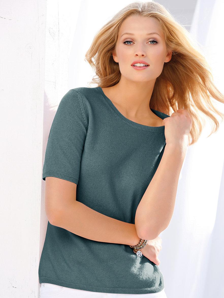 0a26b980e67 Round neck jumper in 100% cashmere design Rieke