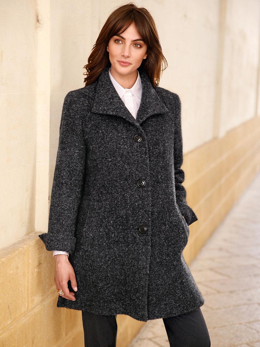 Manteau 3 quart laine