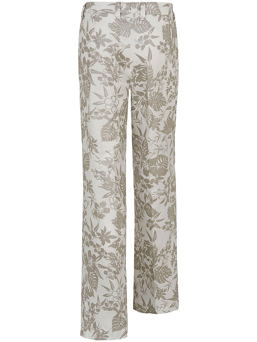 Peter Hahn Le pantalon imprimé en pur lin, coupe CORNELIA