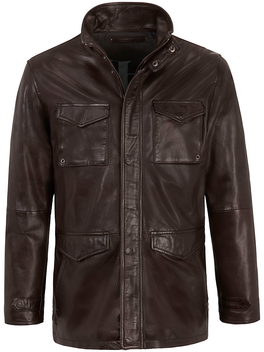 Peter hahn leather jacket