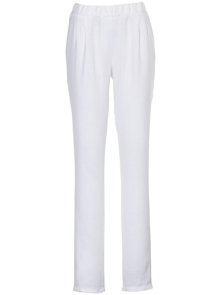 Pull-on trousers - CORNELIA fit Peter Hahn white Peter Hahn Rbuo9Pzoj