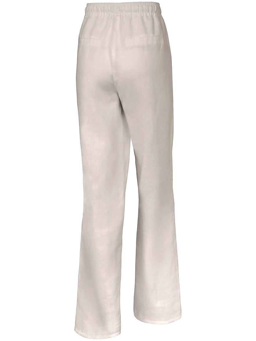 7/8-length pull-on trousers in 100% linen Peter Hahn white Peter Hahn Cheap Collections Discount Official Site Cheap Online Store Looking For Cheap Online 9tWhwOKR