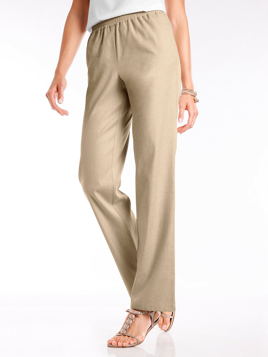 7/8-length pull-on trousers in 100% linen Peter Hahn beige Peter Hahn sAq4Hcy30