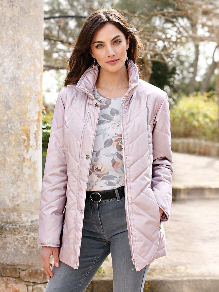 Peter Hahn-Quilted jacket-pastel pink