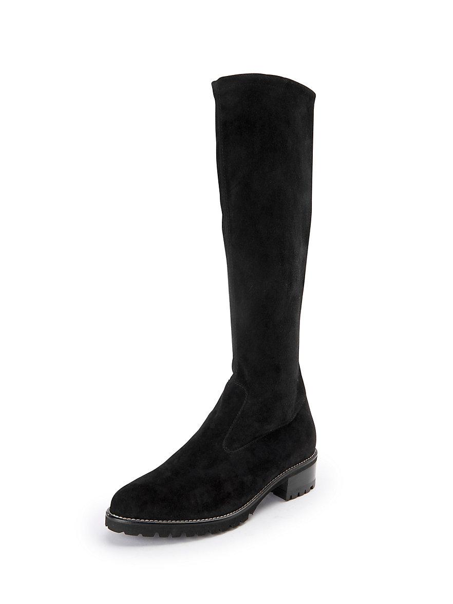 peter kaiser-les bottes en cuir velours, modèle berna-noir