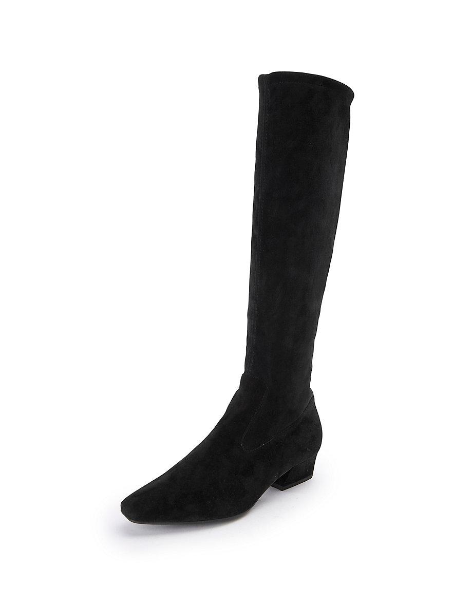 peter kaiser-les bottes en cuir velours stretch, modèle davina-noir
