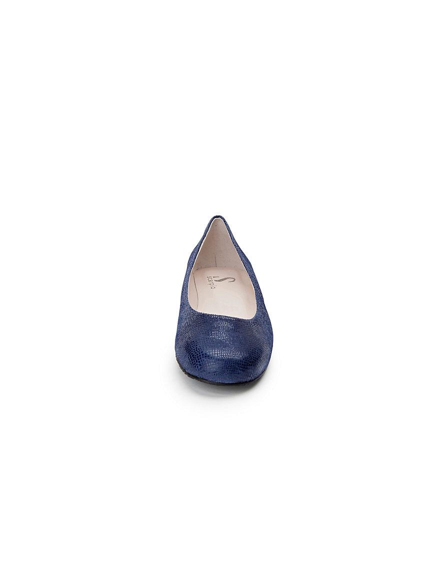 Flexibler Ballerina aus 100% Leder Scarpio blau J4x34