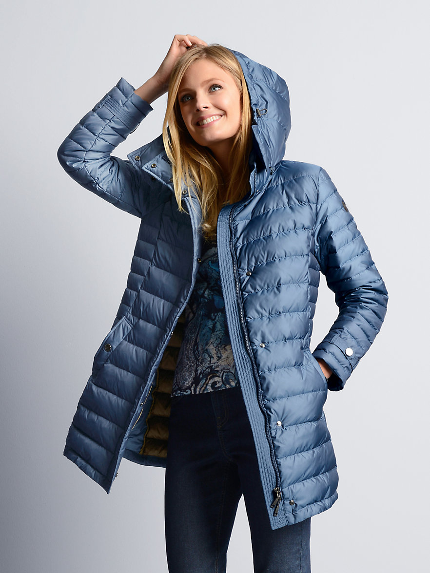 Schneiders Salzburg-Quilted down coat-sea blue : quilted down coats - Adamdwight.com