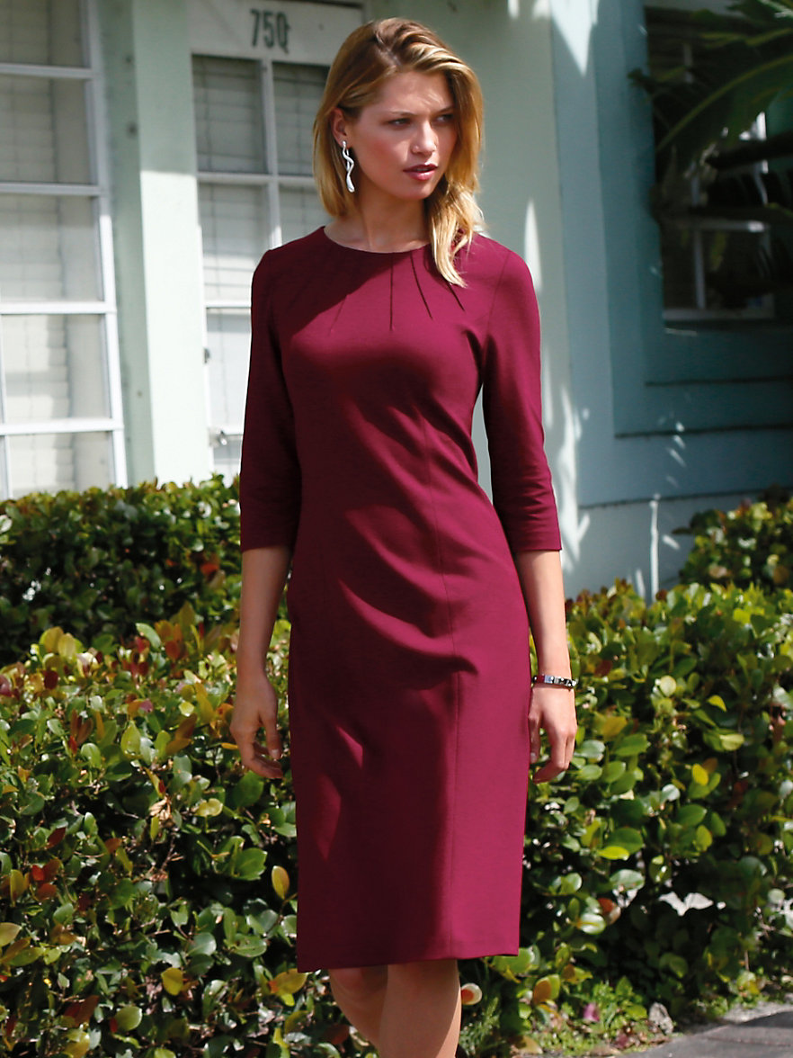 Jersey kleid bordeaux