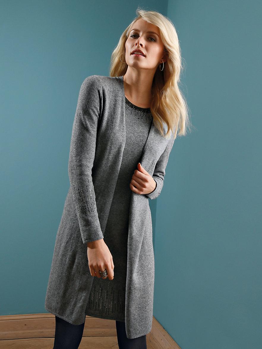 Lang vest over jurk